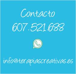 Contacto +34 607521688 info@terapiascreativas.es