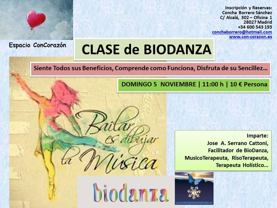 Clase / Taller de Biodanza