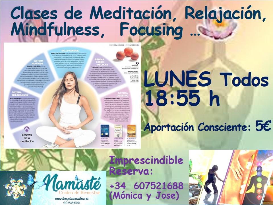 Clases Meditación-Relajación-Mindfulness-Focusing.
