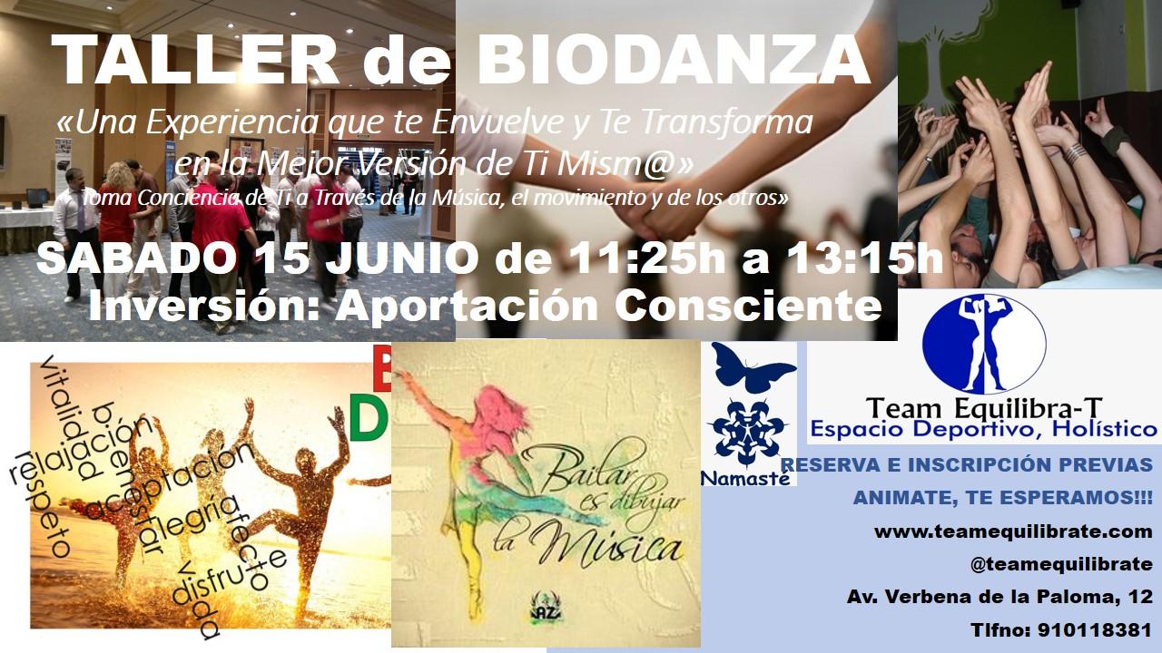 Taller de BioDanza en Team Equilibrate Madrid
